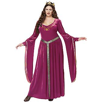 Lady Guinevere Renaissance Medieval Purple Game of Thrones Womens Costume Plus