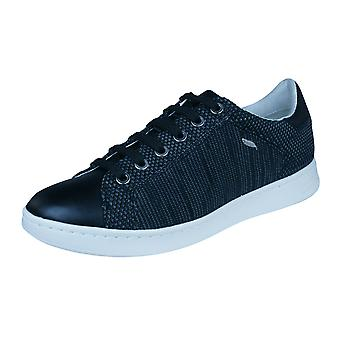 Womens Geox Trainers D Jaysen A Knitted Casual Shoes - Black