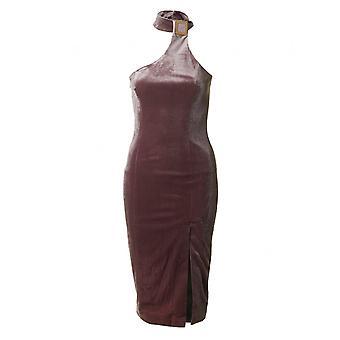 Forever Unique Velvet One Shoulder Dress