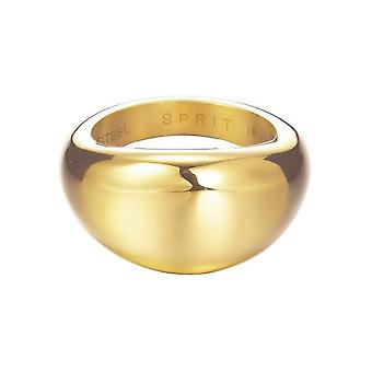 ESPRIT women's ring stainless steel gold organic ESRG12383B1