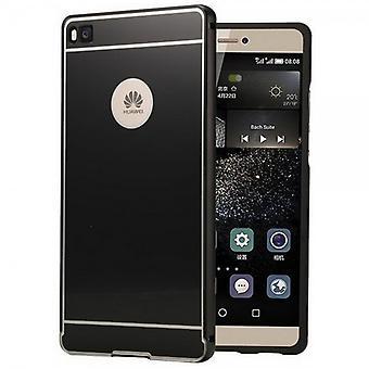 Alu Bumper 2 teilig mit Abdeckung Schwarz für Huawei Ascend P8 Lite