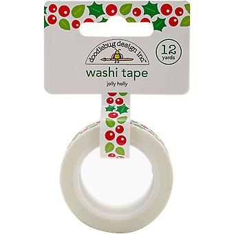 Here Comes Santa Claus Washi Tape 15mmX12yd-Jolly Holly