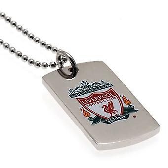 Liverpool Colour Crest Pendant & Chain DT