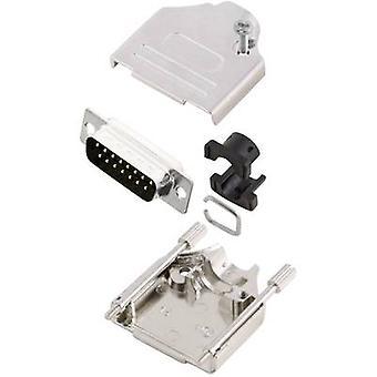 Kit connettori MH MHDTZK15-DM15P-K D-SUB pin striscia 180 ° numero di pin: 15 saldare benna 1/PC