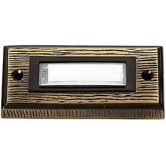 Heidemann 70301 Bell panel with nameplate 1x Bronze 24 V/1 A