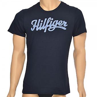 Tommy Hilfiger Norton biokatoen korte mouwen Crew Neck T-Shirt, Marine, klein