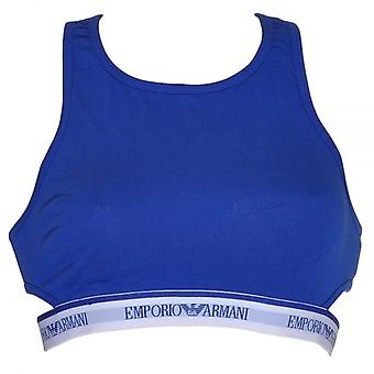 Emporio Armani Women Visibility Stretch Cotton Bralette, Electric Blue, XS