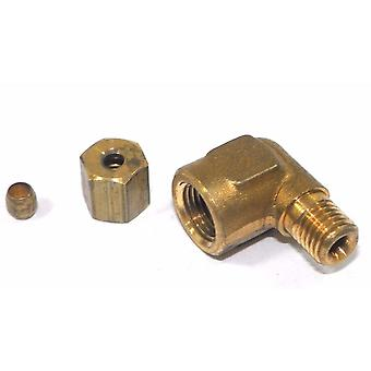 Big A Service Line 3-170220 Brass Pipe, 90 deg Street Elbow Fitting 1/8