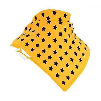Yellow & Brown Stars Bandana Bib