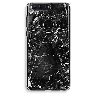 Honor 8 Transparent Case (Soft) - Black Marble 2