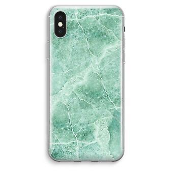 iPhone przezroczysty Max XS - zielony marmur