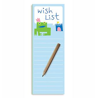 Wish List Magnetic To-Do Lists Notepad