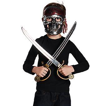 Piraat instellen kinderen 3pcs accessoire carnaval masker 2 zwaarden