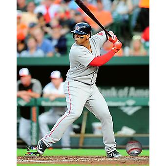 Rafael Devers 2018 Action Photo Print