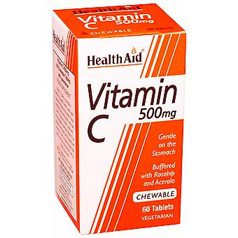 Health Aid Vitamin C 500mg - Chewable (Orange Flavour) ,  60 Tablets