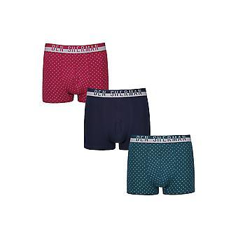 Ben Sherman ondergoed mannen 3 Pack Boxer Trunk broek Marine Teal Wheeler