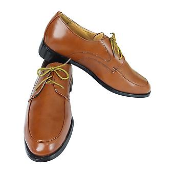 Designer Boys Brown Patent Lace up Shoes