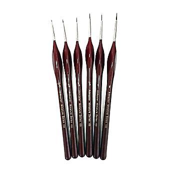 Artmaster kunstnere & Modelmakers Fine detaljer maling pensel sett av 6