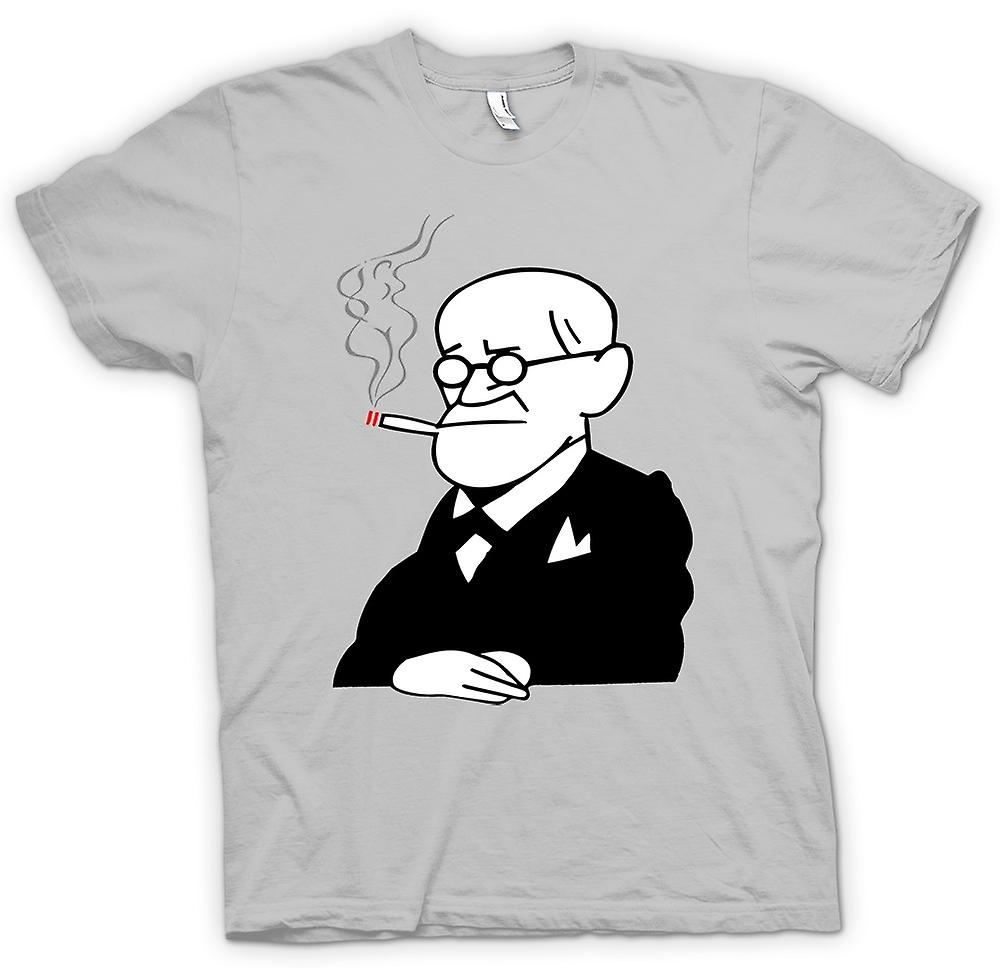 Hommes T-shirt - Sigmund Freud - Psychologie - Cartoon