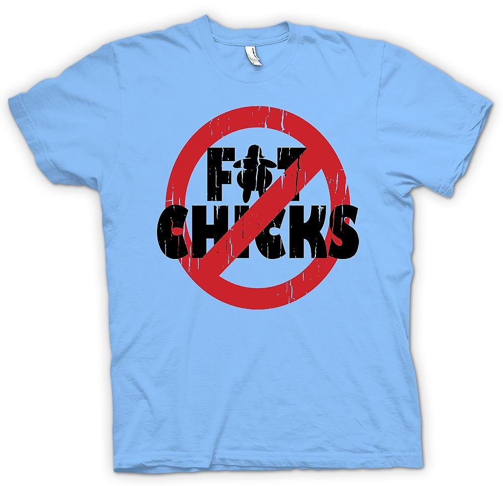 Mens T-shirt - No Fat Chicks - Funny Crude