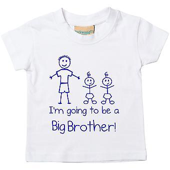 Je vais être un grand frère jumeaux White T-shirt