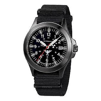 KHS watches mens watch black platoon titanium automatic KHS. BPTA.NB