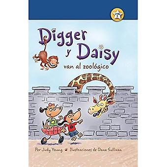 Digger y Daisy Van al Zoologico (je suis un lecteur: Digger et Daisy)