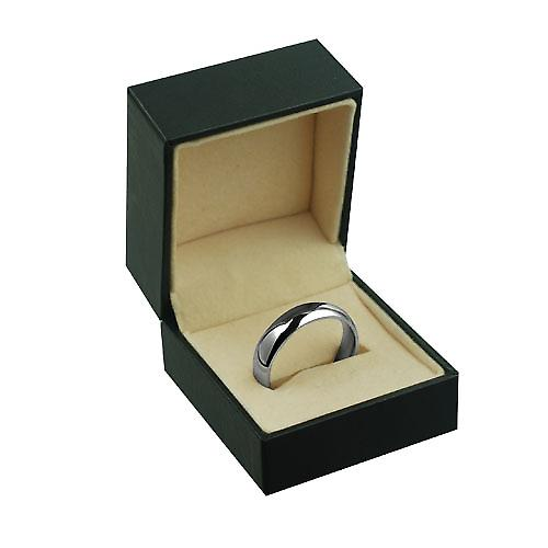 Platinum 6mm plain Court shaped Wedding Ring Size Z