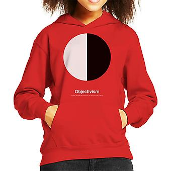 Objectivism Philosophy Symbol Kid's Hooded Sweatshirt