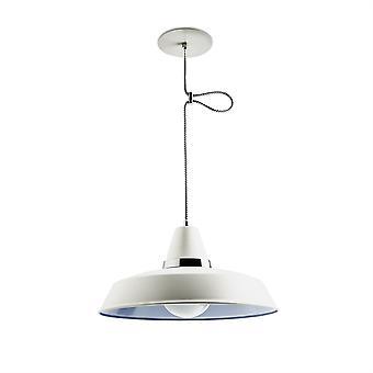 Vintage cromo & soffitto bianco ciondolo - Leds-C4 00-1799-21-16