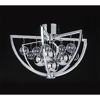 Muni Indoor Flush plafondlamp - Endon MUNI-CH-F