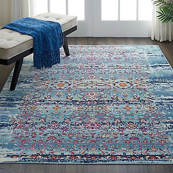 Kashan vintage VKA02 retângulo azul tapetes tapetes tradicionais
