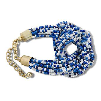 PEARLS FOR GIRLS bracelets 12-ply ladies bracelet with node blue/white