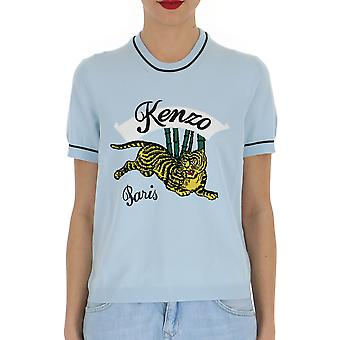 Kenzo Light Blue Cotton T-shirt