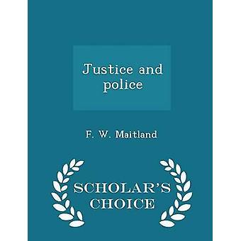 العدل والشرطة