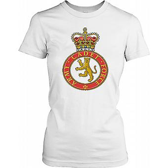 Army Cadet Force Insignia Ladies T Shirt