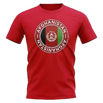 Afghanistan Fußball Abzeichen T-Shirt (rot)