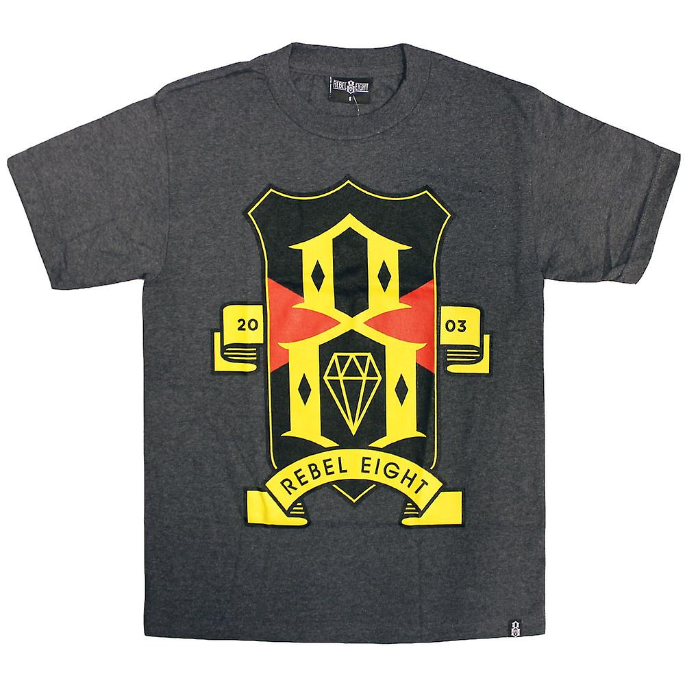 REBEL8 R8FC t-shirt Charcoal Grey