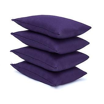 Paquete resistente al agua púrpura de 4 Juggling bolsas de frijoles para jugar al aire libre
