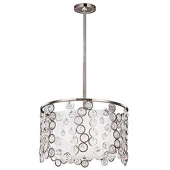 Elstead - 3 Light Pendant - Polished Nickel Finish - FE/LEXI/P