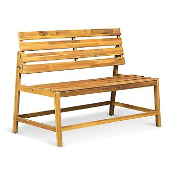 Lanterfant Hugo houten tuinbank - bruin