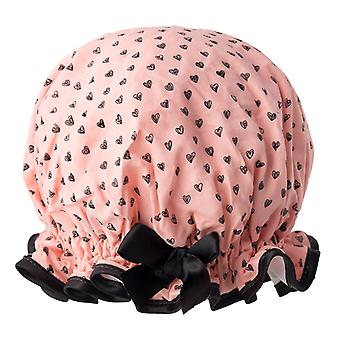 Peachy Hearts Shower Cap
