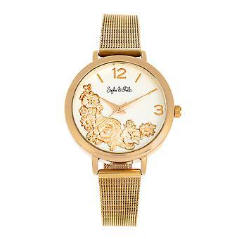 Sophie and Freda Lexington Bracelet Watch - Gold/White