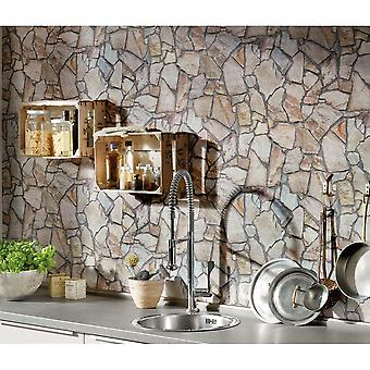 A.S. Creation Wood N Stone Rural Cottage Natural Stone Wallpaper 927316