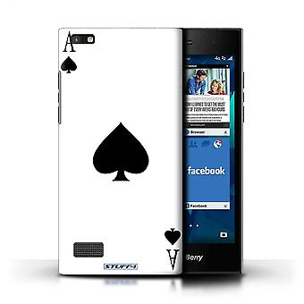 STUFF4 Case/Cover for Blackberry Leap/Ace of Spades/Playing Cards