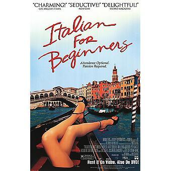 Italian aloittelijoille (yksipuolinen video) alkuperäinen video/DVD-mainos juliste
