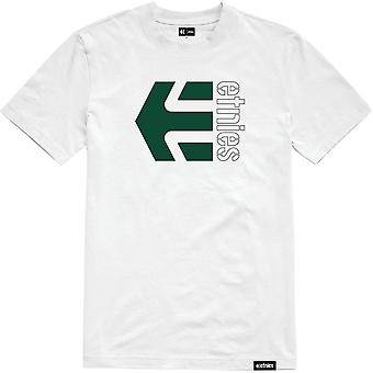 Etnies Corp Combo Short Sleeve T-Shirt in White