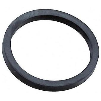 Sealing ring M12 EPDM rubber Black (RAL 9005) Wiska EADR 12 1 pc(s)