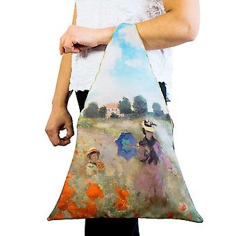 Tote bag motif art field of poppies Claude Monet