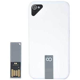 Cover with 8 GB USB drive-plastic iPhone 4/4S (white)